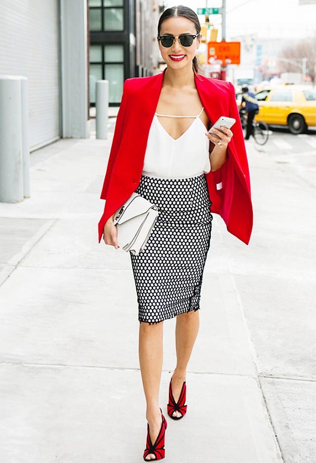 red blazer workwear