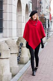 red cape and beret