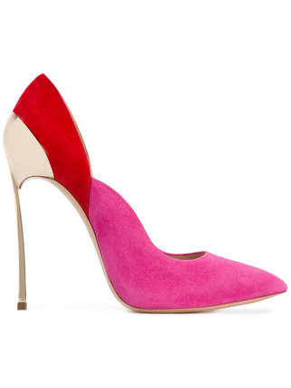 casadei techno blade pump red gold pink