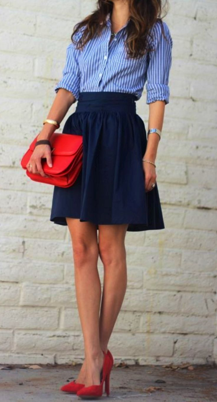 red shoe and bag