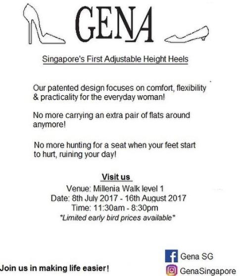 GENA Singapore Launch at Milennia Walk